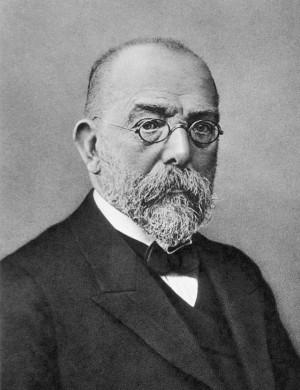 1870년대 독일 볼슈타인의 개업의인 로베르트 코흐는 세균이 가축에서 탄저병을 일으킨다는 사실을 입증해 현대의학의 지평을 열었다. 그러나 최근 병원체에 대한 지나친 강조는 의학발전에 걸림돌이 된다는 의견이 나오고 있다. - 위키피디아 제공